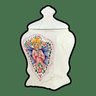 Керамическая чайница АНГЕЛ Подарок Цейлона 100г