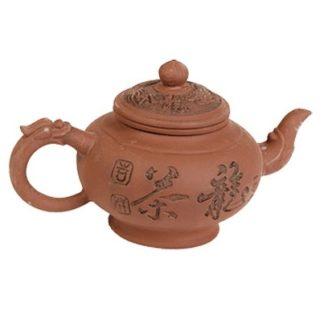 """Чайник """"Чай Дракона"""" коричневый с з/к 1л"""