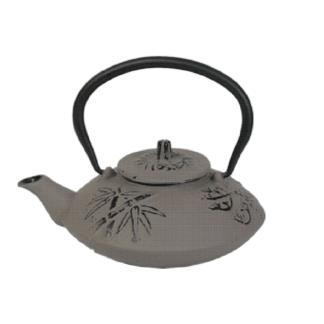 """Чайник чугунный """"Бамбук"""" 650мл с ситом серый"""