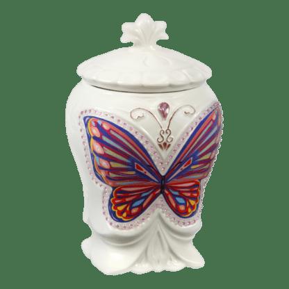 Керамическая чайница Бабочка Черный лист 100гр