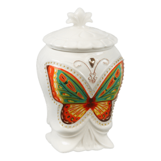 Керамическая чайница Бабочка Подарок Цейлона 100гр