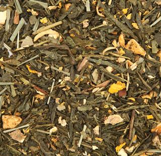 Зеленый ароматизированный чай Имбирный апельсин